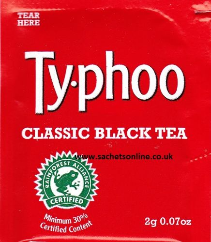 Ty-phoo (Typhoo) foil sealed tea bags - single portion sachets online